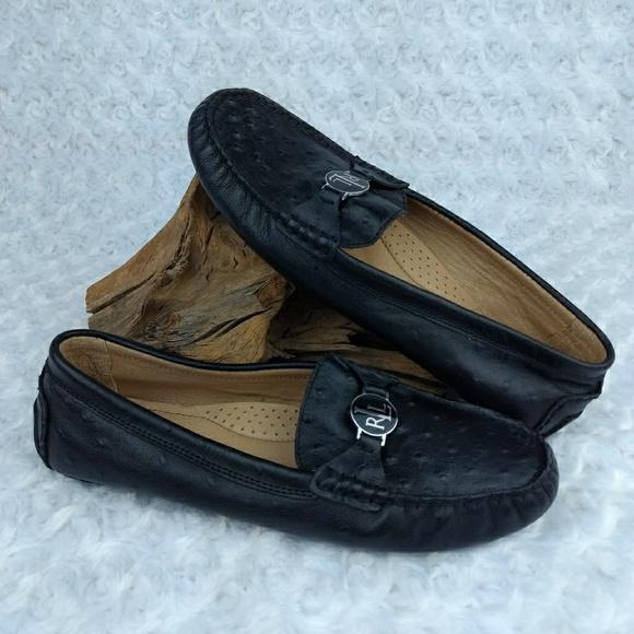811fddde238 Lauren Ralph Lauren Shoes - Ralph Lauren Carley Ostrich Driving Loafer